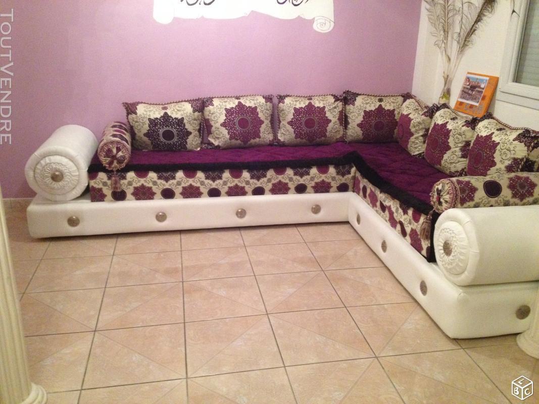 Salon Marocain Cuir Blanc Valentigney 25700 Ameublement