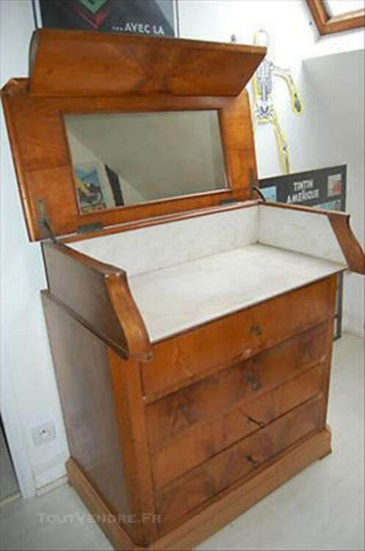 Superbe Meuble De Toilette Ancien Escamotable Montaner 64460
