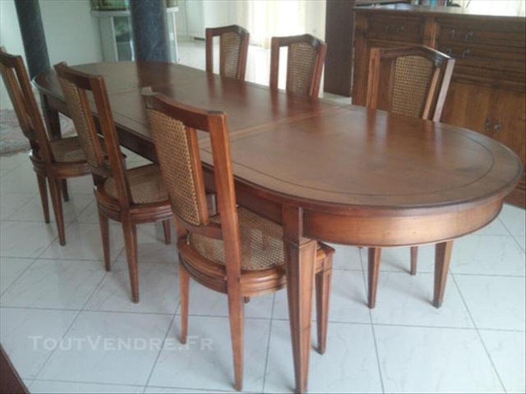 Table + 6 Chaises Salle À Manger Roche Bobois Ourdis ...
