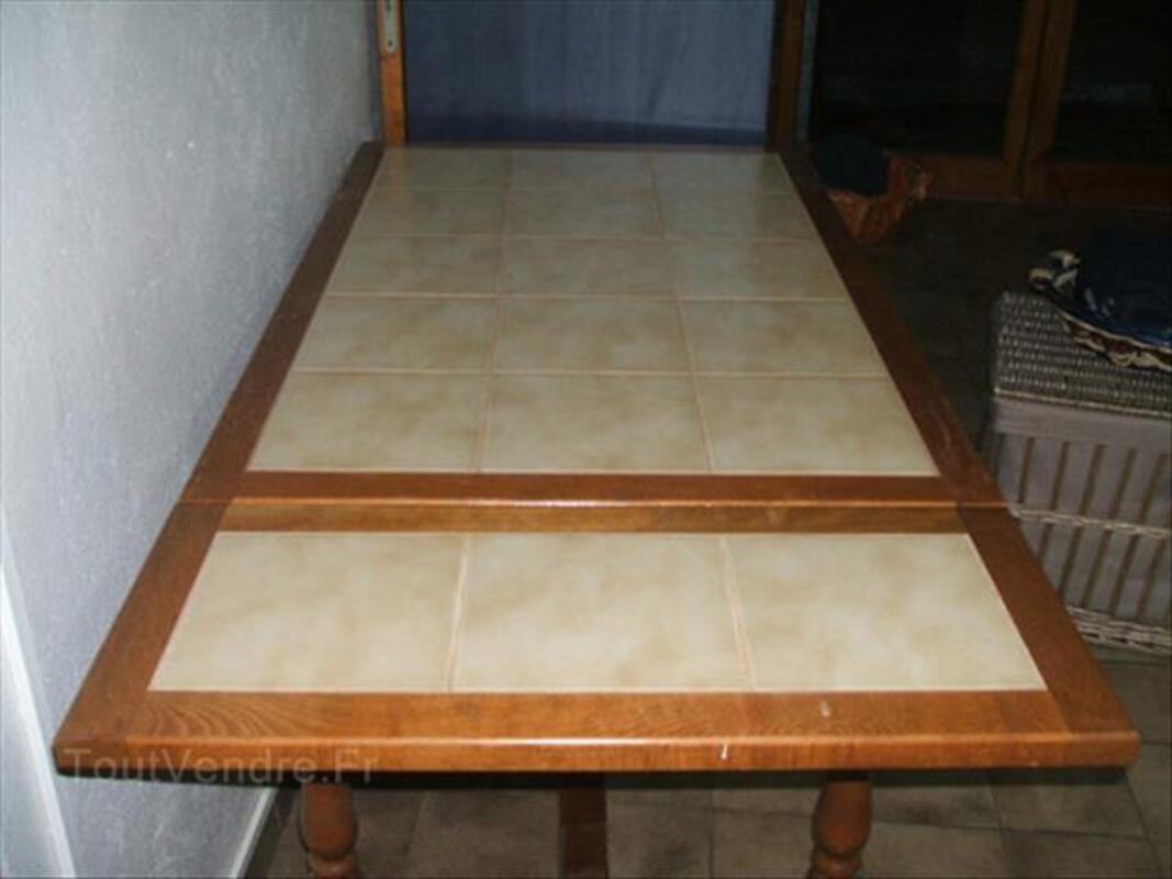 Table De Cuisine Carreler En Hetre Moingt 42600 Ameublement