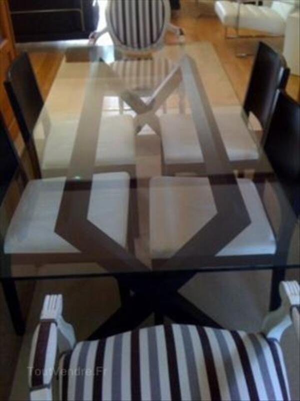Table De Salle A Manger Et 4 Chaises Habitat Wenge Baccarat 54120