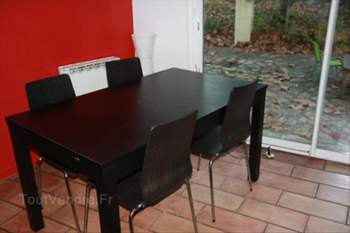 Table IKEA BJURSTA Et 4 Chaises GILBERT Sentelie 80160