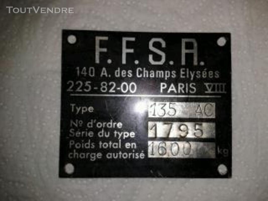 UNIQUE CARTE GRISE FIAT DINO MOTORISATION FERRARI 135 AC 11 Nevers 58000
